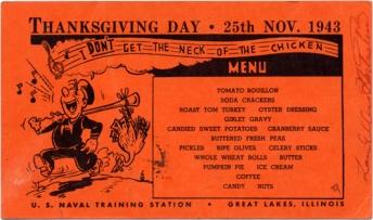 11-23 1943-Menu-Tgiving